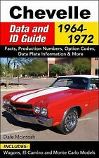 Chevelle Data and ID Guide: 1964-1972 by Dale McIntosh (Paperback)