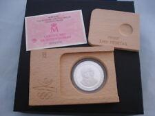 Moneda 2.000 pesetas. Plata ley. Olimpiadas Barcelona 92. Bolos. 27 grs. Estuche
