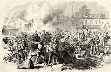 Thomas Nast Civil War Gorilla Warfare John Morgan Highwaymen Sacking a Town