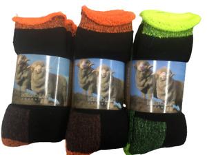 9 PAIRS Heavy Duty Extra Thick Australian MERINO Wool Socks 11-14 Medium Size