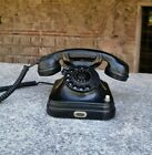 1950's Pupin rare telephone, vintage black bakelite office desk phone