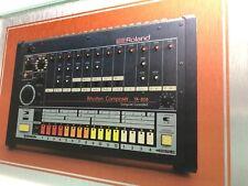 "Roland TR - 808 A4 Framed drum machine print on Aluminium 14x10"" inc Frame - NEW"
