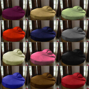 1 PC Round Bed Fitted Sheet 1000 TC Egyptian Cotton All US  Sizes & Solid Colors