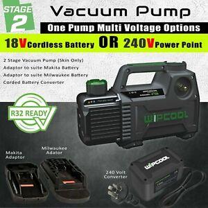 18V Cordless and 240Volt Vacuum Pump - Compatible with Milwaukee, Makita, AEG