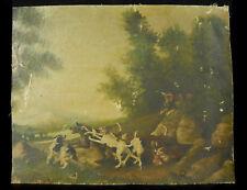 Nicolas Eugène TROUVÉ Chasse à courre au loup Wolf hunting with hounds c1870