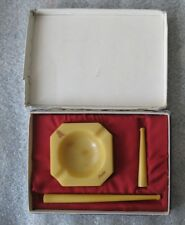 Catalin Bakelite Amber BUTTERSCOTCH Honey Ashtray 133gr Mouthpiece Die Cigarette