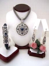 "Brighton ""ARAGON"" Reversible Necklace-Earring-Bracelet Set (MSR$208) NWT/Pouch"