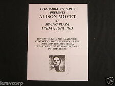 ALISON MOYET—1994 PRESS RELEASE
