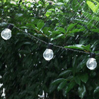 LED Solar Powered Retro Bulb String Lights Garden Outdoor FAIRY Party Hang Lamp