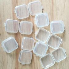 5/10/50Pcs Mini Plastic Small Box Fish Hook Ear Stud Jewelry Container Storage