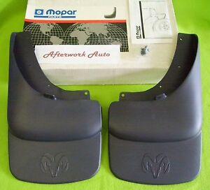 Mopar 82207241 Rear Mud-Splash Guards for 2002-2009 Ram Pickup w/o flares