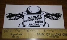 """SMALL FLAT TRACK  """"XR 1200"""" RACING DECAL"""