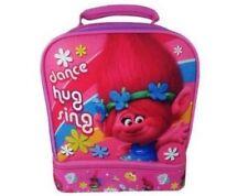 DreamWorks Trolls Dual Compartment Lunchbox Lunch Bag Poppy Dance Hug Sing Pink