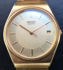 Men's Gold Plated  Seiko Watch.