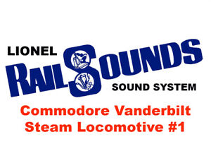 Lionel Commodore Vanderbilt Steam RailSounds Sound System #1 - BACK IN STOCK