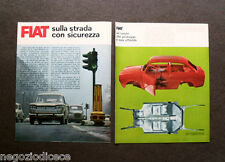 AX80 - Clipping-Ritaglio -1965- FIAT , SULLA STRADA CON SICUREZZA