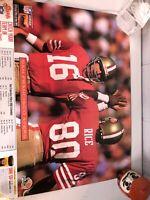 1992 KODAK San Francisco SF 49ers Schedule Poster - Jerry Rice & Joe Montana