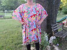 NWT We Be Bop Womens Caftan Tropical Surprise Red One Size Fits All