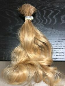Human Hair Cut 8 Inch From Young Child Girl, Medium Blonde Fine And Soft Curls