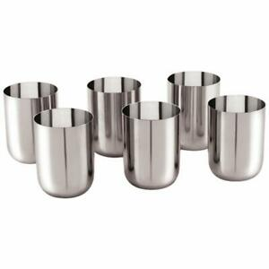 Stainless Steel Glass Set (6 Pieces,300ml)