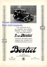 Berliet 7 CV Lyon Reklame 1925 Frankreich Monplaisir Venissieux Werbung ad
