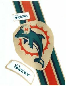 Dolphins Football Helmet Decals Free Shipping 97-12