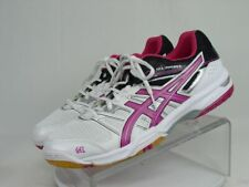 NWOB ASICS GEL ROCKET Women 11 White Pink Running Volleyball Gym Trainers Shoes