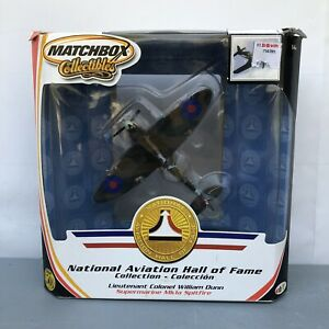 Matchbox Supermarine MK1a Spitfire  Diecast Airplane Lt. William Dunn 1:72 NIB