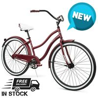 "Huffy Cranbrook 26"" Women's Cruiser Bike Dark Red. FREE FAST SHIPPING!!"