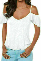 Women's Summer Off Shoulder Short Sleeve Casual Halter T-Shirt Blouse Tops Vest