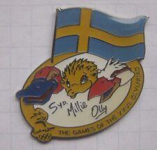 OLYMPIA SYDNEY 2000 MASCOT OLLY SYD MILLIE / FAHNE SCHWEDEN  ... Pin (160c)