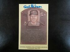 BOB GIBSON AUTOGRAPH / SIGNED GOLD HALL OF FAME POST CARD St Louis Cardinals