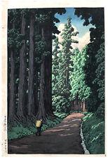 Road to Nikko  by Kawase Hasui ORIGINAL Woodblock Print