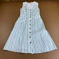 Ann Taylor Loft Outlet Womens Size 0 Striped Button Front Dress NWT