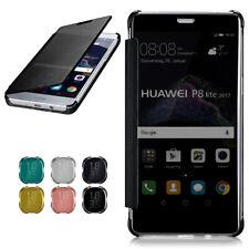 Flip Case für Huawei P8 Lite 2017 Schutz Hülle Spiegel Etui 360 Grad Transparent