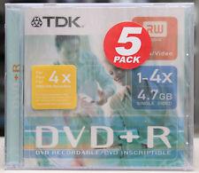 TDK DVD+R  4,7GB 5 Pack RW dvd + r  NEU Händler