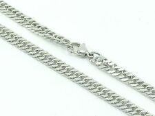 """Mens Womens Curb Link Chain Necklace Stainless Steel 316L 30"""" 5mm 27g Unisex"""