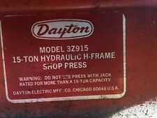 Dayton Manual Hydraulic H Frame 12-15 Ton hydraulic Press Made in USA
