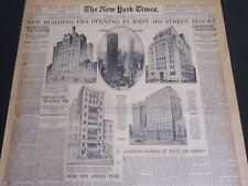1930 OCTOBER 5 NEW YORK TIMES REAL ESTATE - NEW BUILDING ERA OPENING - NT 6998