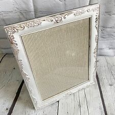 Silver Plated Floral 8x10 Picture Frame Rustic Photo Frame Home Décor Accent
