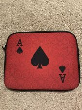 "10"" Red Ace Card Case/Sleeve/Pouch For iPad/Tablet/Laptop"