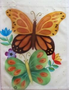 """Butterfly Tango Garden Flag by Toland #1193, 11"""" x 14"""", Monarch"""