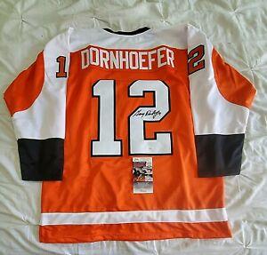 Gary Dornhoefer Autographed Signed custom Philadelphia Flyers Jersey JSA COA XL