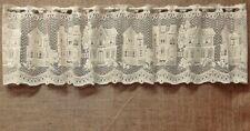 Lace Window Valance Ivory Cotton Blend Charleston 54 x 12 Bathroom Kitchen