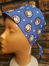 Snoopy Vs The Red Baron Badges Handmade Surgical Scrub Caps