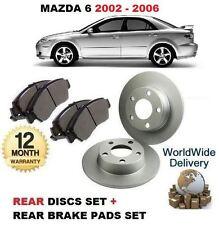 FOR MAZDA 6 1.8 2.0DT 2.0 2.3  7/2002-8/2006 REAR BRAKE DISCS   + DISC PADS KIT