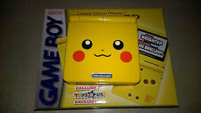 RARE NINTENDO GAME BOY advance SP POKEMON PIKACHU  SERIE LIMITEE AGS-101 CANADA