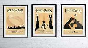 LORD OF THE RINGS Posters, A3 A4 Alternative Film Print Unique Design Wall Art