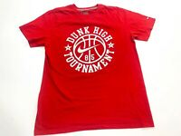 Nike Basketball Dunk High Tournament Standard Fit T-Shirt Men's Large Red
