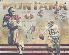 "Photo Print Poster of San Francisco 49ers Legend Joe Montana, 16"" x 20"""
